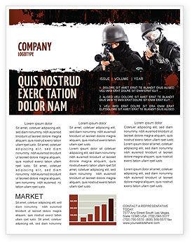 SWAT Newsletter Template, 05404, Military — PoweredTemplate.com