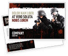 Military: SWAT Postcard Template #05404