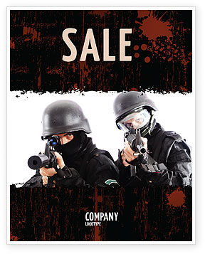 SWAT Sale Poster Template, 05404, Military — PoweredTemplate.com
