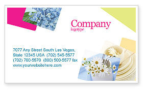 Careers/Industry: Table Bouquet Business Card Template #05406