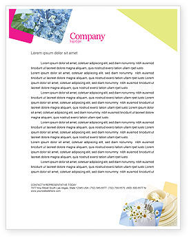 Table Bouquet Letterhead Template, 05406, Careers/Industry — PoweredTemplate.com