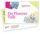 Careers/Industry: Table Bouquet Postcard Template #05406