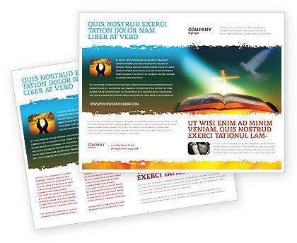 Religious/Spiritual: Modèle de Brochure de bible avec la colombe sacrée #05408
