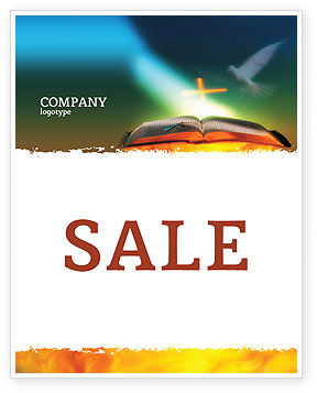 Religious/Spiritual: Bible With Holy Dove Sale Poster Template #05408