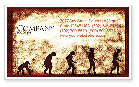 Human Development From Ape Business Card Template, 05415, Consulting — PoweredTemplate.com