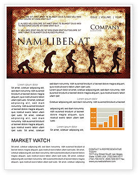Human Development From Ape Newsletter Template, 05415, Consulting — PoweredTemplate.com