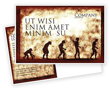 Consulting: Human Development From Ape Postcard Template #05415