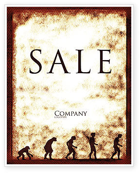 Human Development From Ape Sale Poster Template