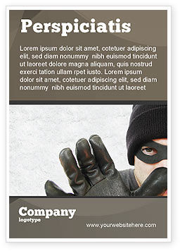 Legal: Masked Man Ad Template #05417