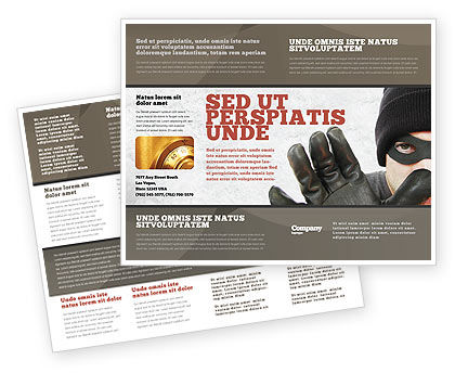 Masked Man Brochure Template, 05417, Legal — PoweredTemplate.com