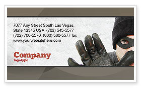 Masked Man Business Card Template, 05417, Legal — PoweredTemplate.com