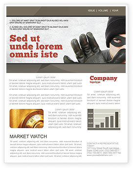 Masked Man Newsletter Template, 05417, Legal — PoweredTemplate.com