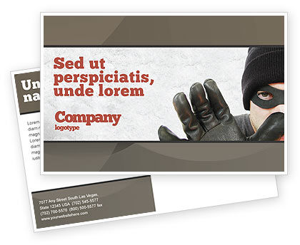 Masked Man Postcard Template, 05417, Legal — PoweredTemplate.com