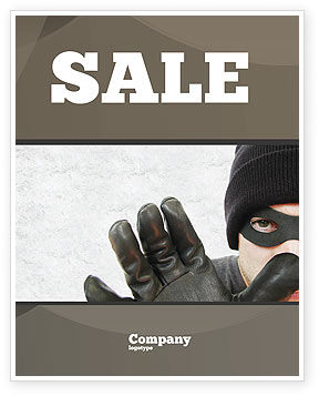 Masked Man Sale Poster Template, 05417, Legal — PoweredTemplate.com