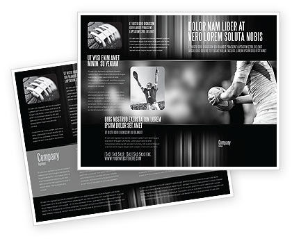 Rugby Football Brochure Template, 05421, Sports — PoweredTemplate.com