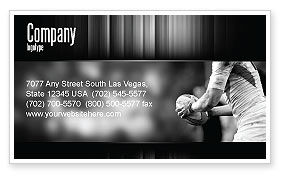 Sports: Rugby Visitekaartje Template #05421
