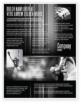 Sports: Rugby Football Flyer Template #05421