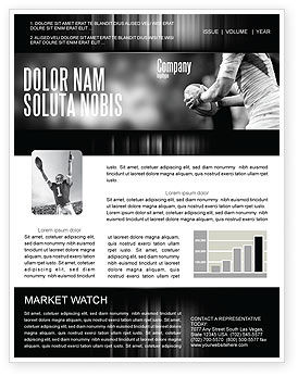 rugby football newsletter template for microsoft word adobe