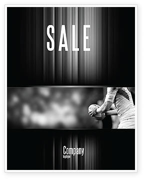 Rugby Football Sale Poster Template, 05421, Sports U2014 PoweredTemplate.com  Ms Word For Sale