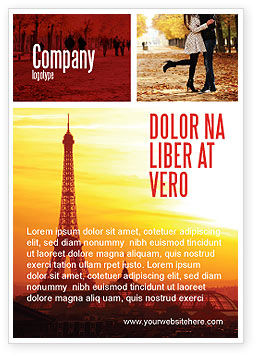 Careers/Industry: Paris In De Collage Advertentie Template #05425
