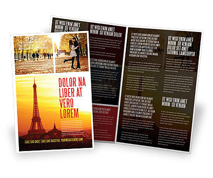 Paris In Collage Brochure Template, 05425, Careers/Industry — PoweredTemplate.com