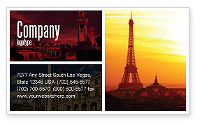 Careers/Industry: Paris In Collage Business Card Template #05425