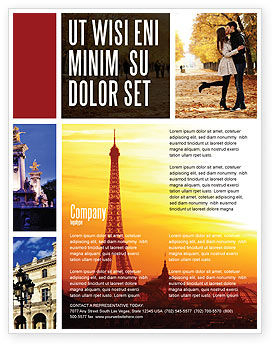 Careers/Industry: Paris In Collage Flyer Template #05425
