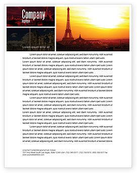 Paris In Collage Letterhead Template, 05425, Careers/Industry — PoweredTemplate.com