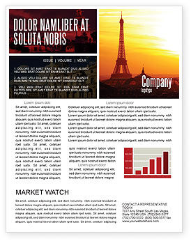 Careers/Industry: Paris In Collage Newsletter Template #05425