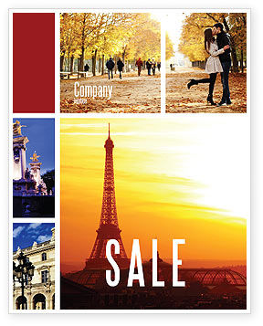 Careers/Industry: Paris In Collage Sale Poster Template #05425