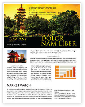 Flags/International: Pagoda Newsletter Template #05428