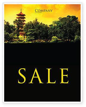Pagoda Sale Poster Template, 05428, Flags/International — PoweredTemplate.com