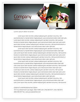 Class Teaching Letterhead Template, 05430, Education & Training — PoweredTemplate.com