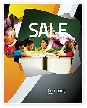 Class Teaching Sale Poster Template, 05430, Education & Training — PoweredTemplate.com