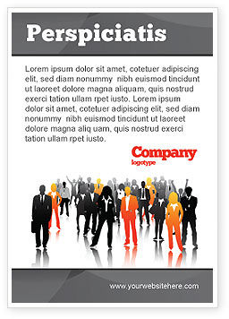 Business: Commercieel Personeel Silhouetten Advertentie Template #05442