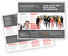 Business: Business Personnel Silhouettes Brochure Template #05442