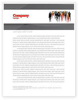 Business: Business Personnel Silhouettes Letterhead Template #05442