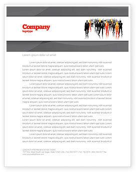 Business Personnel Silhouettes Letterhead Template