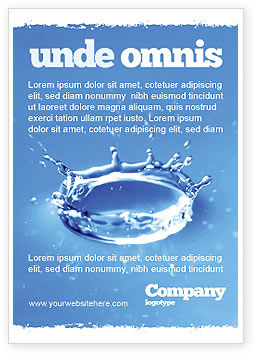 Nature & Environment: Blauwe Waterplons Advertentie Template #05444
