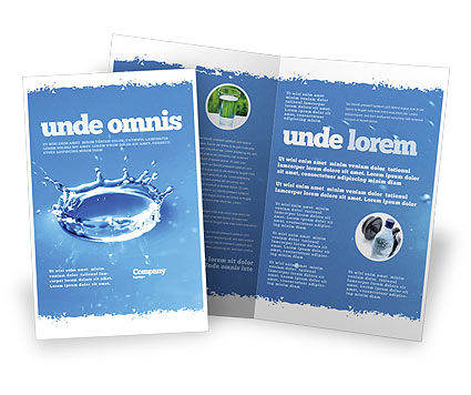Green Water Drops Brochure Template Design and Layout, Download ...