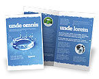 Nature & Environment: Blue Water Splash Brochure Template #05444