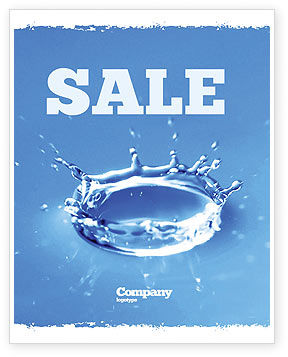 Nature & Environment: Blue water Splash Sale Poster Template #05444