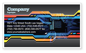 Technology, Science & Computers: Computer Scheme Business Card Template #05453