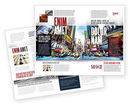 Times Square Brochure Template, 05456, Construction — PoweredTemplate.com