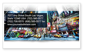 Construction: Times Square Visitekaartje Template #05456