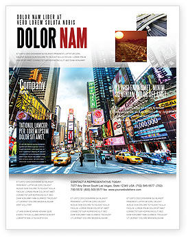 Times Square Flyer Template, 05456, Construction — PoweredTemplate.com