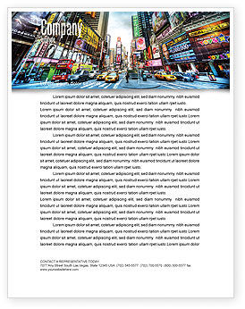 Times Square Letterhead Template, 05456, Construction — PoweredTemplate.com