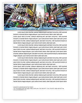 Construction: Times Square Letterhead Template #05456