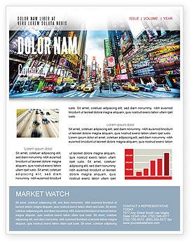 Times Square Newsletter Template, 05456, Construction — PoweredTemplate.com
