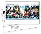 Construction: Times Square Postcard Template #05456